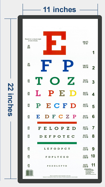 Patented Alphabetical Color Eye Chart